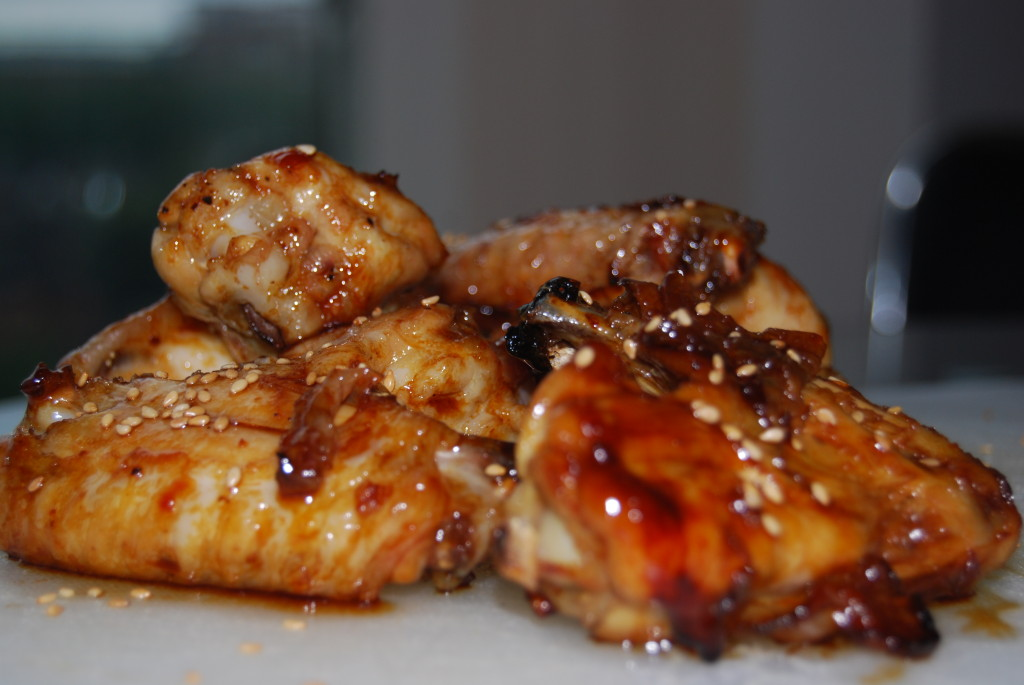 sesame and soy glazed wings