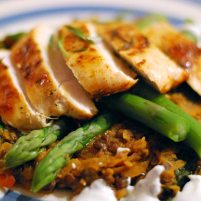 Rosemary Chicken with Puy Lentils