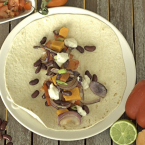 Mexican Vegetarian Bean Wrap