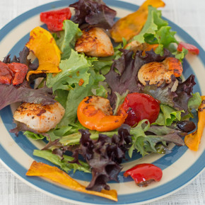 Smoked Paprika Scallop Salad