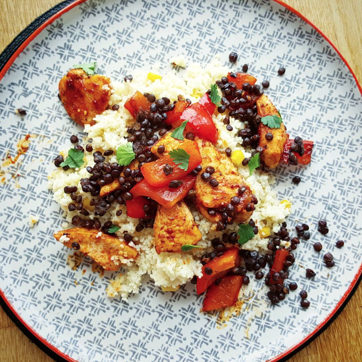 Moroccan Chicken with Harissa Couscous