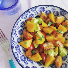 Balsamic Mango with Avocado & Chicken Salad