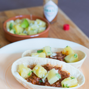 Soft Beef Tacos with Pineapple Salsa