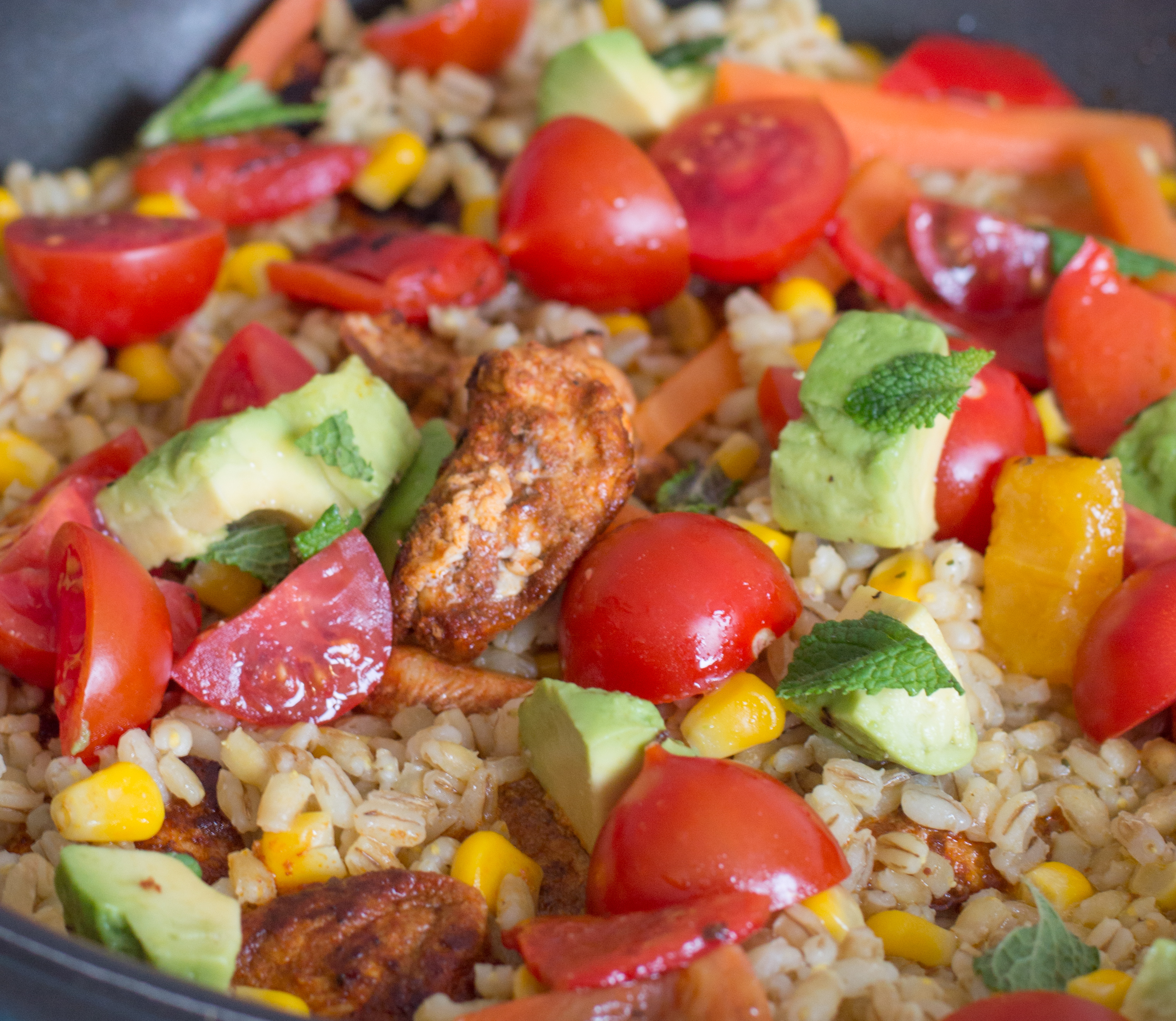 Chicken, Avocado & Pearl Barley One-Pot