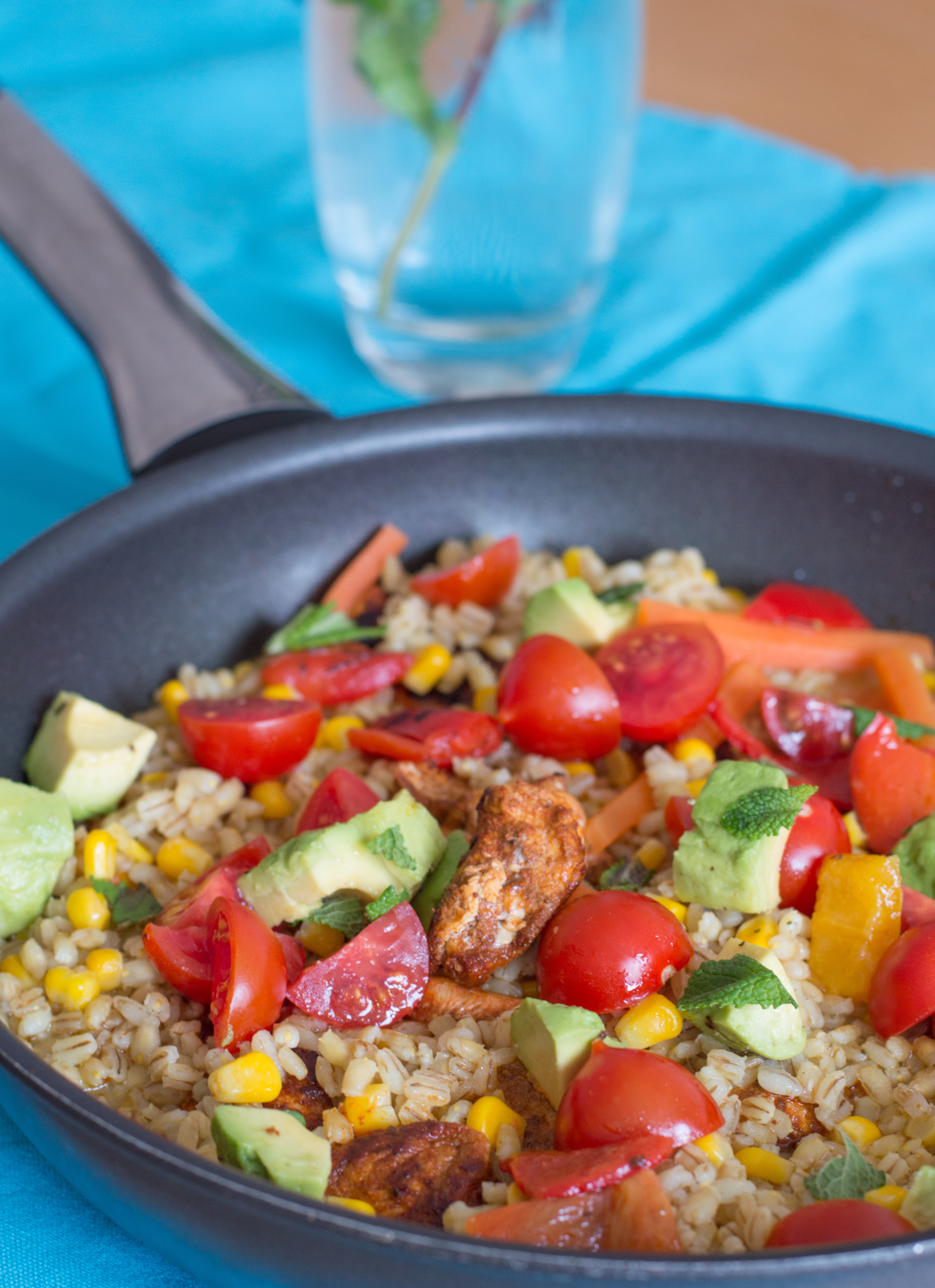 chicken, avocado & pearl barley one-pot2