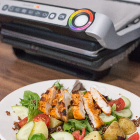 "(REVIEW + RECIPE) Tefal Optigrill & ""Warm Chipotle Chicken Salad"""