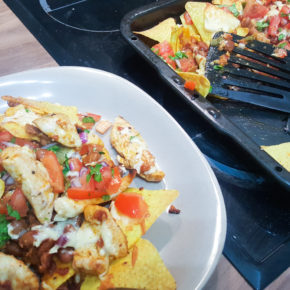 Chicken & Chorizo Nachos with Tomato Salsa