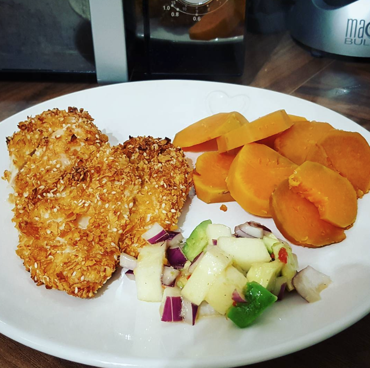Crispy Cornflake Chicken with Apple & Avocado Salsa - Food ...