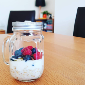 Mixed Berry Overnight Oat Jar