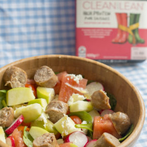 (RECIPE)  Apple, Watermelon & Sausage Summer Salad