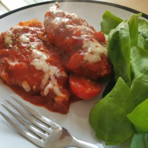 (RECIPE)  Crispy Chicken in a Tomato & Oregano Sauce