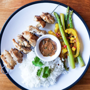 [RECIPE] Chicken Satay Skewers